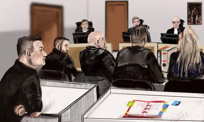 Hennepzaak Reeuwijk, rechtbanktekening