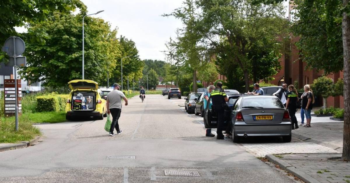 Auto's beschadigd na botsing in Middelburg.