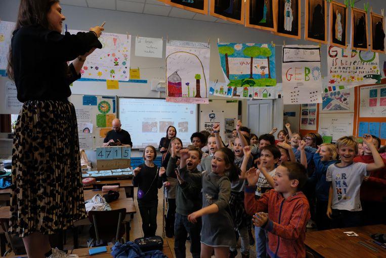De leerlingen van klas 3A van de lagere gemeenteschool van Bonheiden gingen donderdagmiddag helemaal uit hun dak.