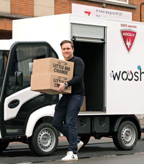Livrer, collecter et recycler les couches des crèches belges: le défi écolo de la start-up Woosh