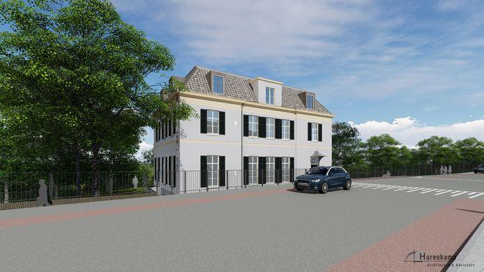 Impressie van Villa Schoonheuvel aan de Utrechtseweg in Arnhem na de renovatie. Er komen appartementen in.