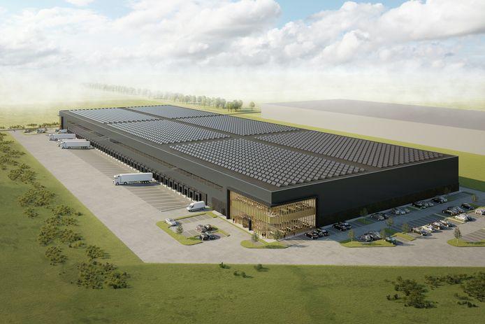 Zo komt het nieuwe distributiecentrum van Nunner Logistics in 's-Heerenberg er straks uit te zien.