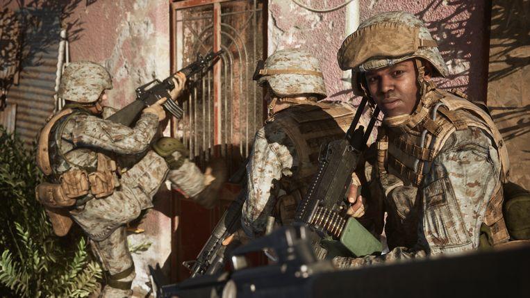 De strijd om Fallujah was bits en bloedig, waardoor het volgens velen destijds not done was om er al zo snel een videogame rond te maken. Beeld Victura