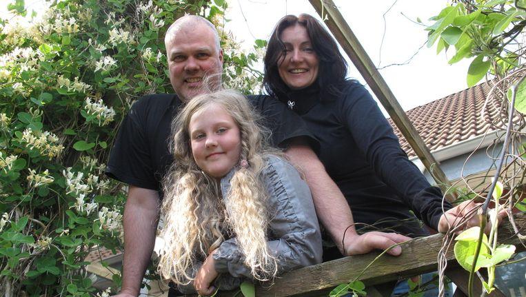 Susan en Edwin Weimer met hun dochter Sam: