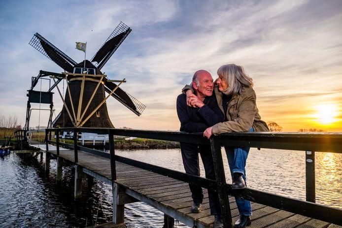 Judith Brandon (70) fotografeerde 35 jaar geleden de molen. Een half jaar later woonde ze samen met molenaar Arno Gouwbitz (77).