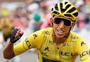 Egan Bernal won vorig jaar de Tour voor Geraint Thomas en Steven Kruijswijk.