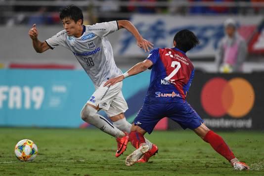 Keito Nakamura (rugnummer 38) geldt als een groot talent in eigen land.