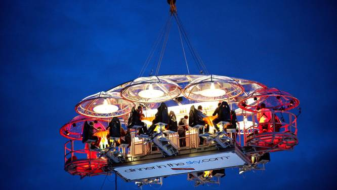 Dinner in the Sky maakt in juni Brusselse comeback