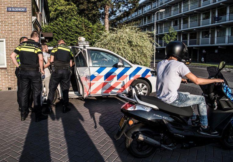 Onrust in Poelenburg, vorig jaar september Beeld ANP