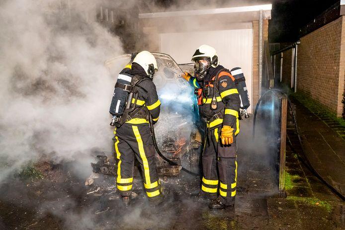 Ongeregeldheden in Oosterhout maandagavond.