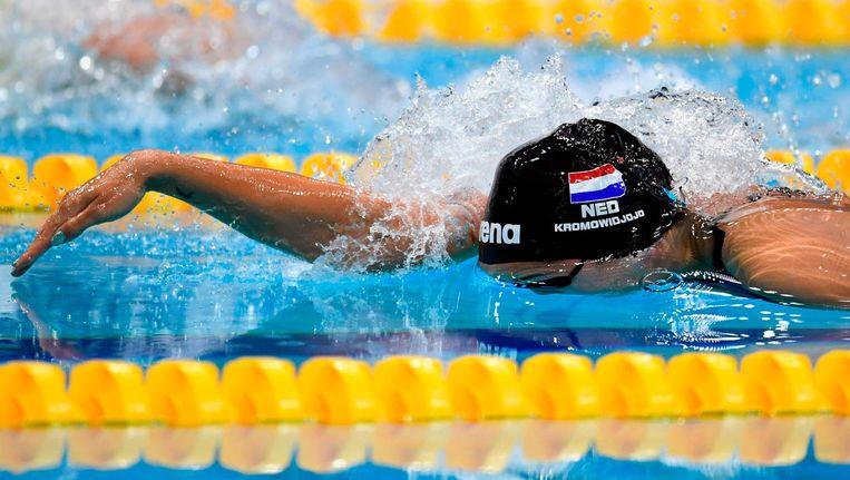 Ranomi Kromowidjojo op het WK zwemmen Beeld afp