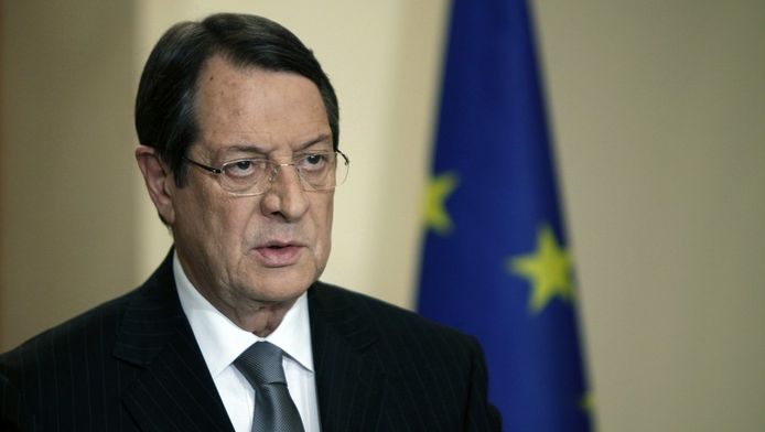 Le président chypriote Nicos Anastasiades