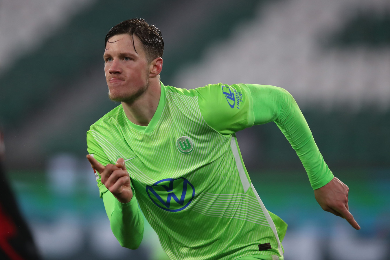 Wout Weghorst maakte dit seizoen al elf doelpunten.