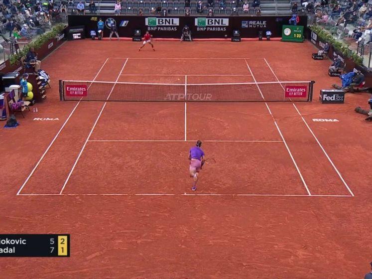 Nadal pakt titel in Rome ten koste van Djokovic