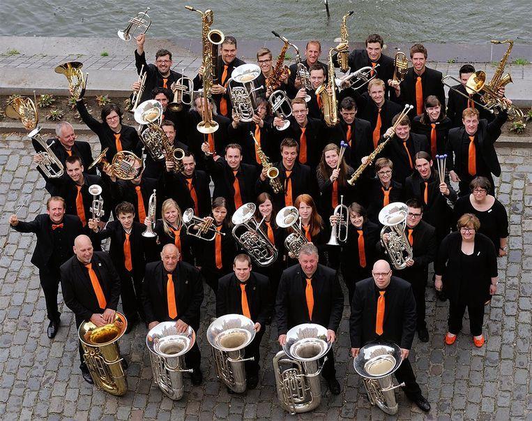 Een archieffoto van fanfareorkest Brass-aux-Saxes.
