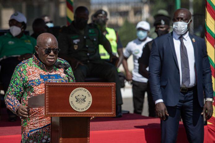 """De president van Ghana Nana Akufo Addo hield een toespraak ter gelegenheid van 'Groene Ghana-dag'. """"We moeten nu actie ondernemen"""", klonk het."""