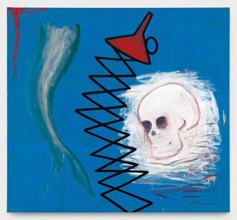 Walter Swennen, 'Untitled (Tête de mort, entonnoir)' 1987  Beeld © VG Bild-Kunst Bonn, 2021