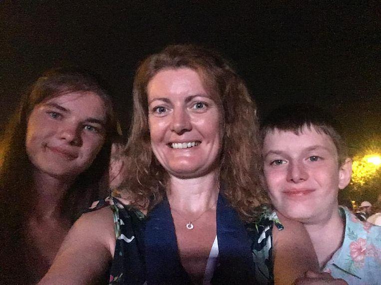 Jessy Campe, eerder die avond genoot ze nog samen met haar kinderen van Antwerpen Zingt.