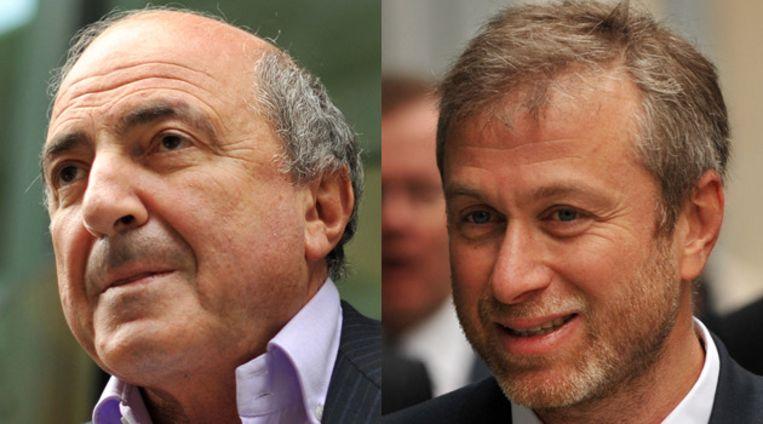 Berezovski (L.) en Abramovich. © AFP Beeld