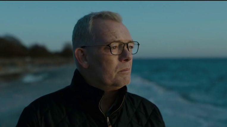 Søren Malling als politiecommissaris Jens Møller in The Investigation. Beeld