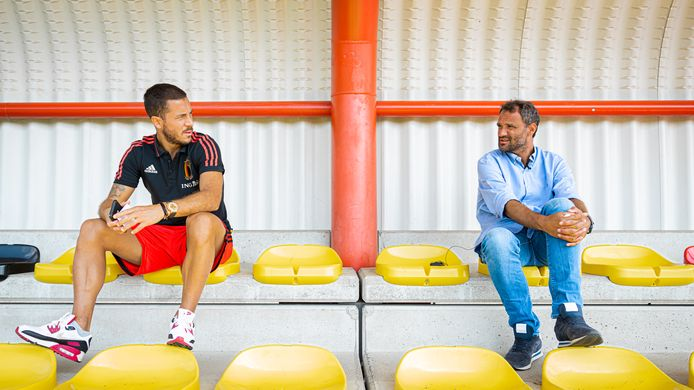 Eden Hazard en Stephan Keygnaert.
