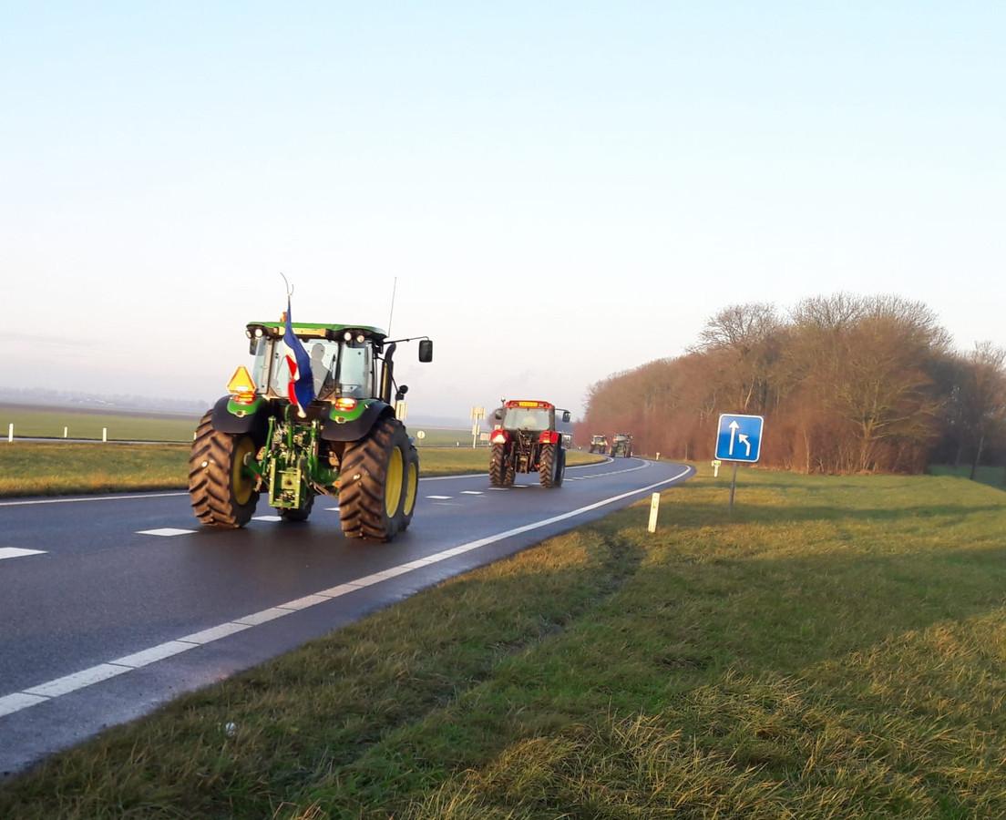 De trekkers rijden richting Middelburg.