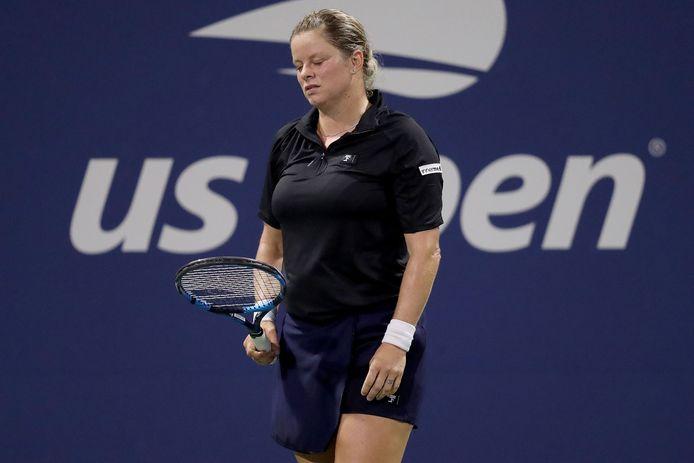 Clijsters op de US Open vorig jaar.