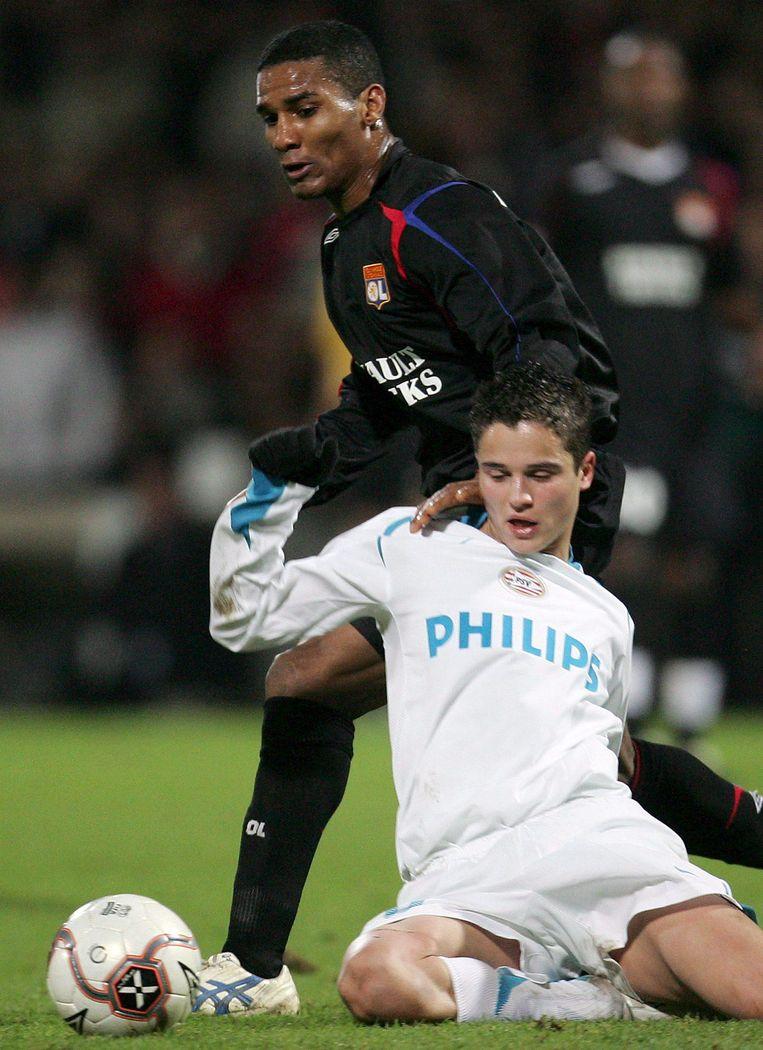 De jonge Ibrahim Affelay in dienst van PSV tijdens de Champions League van 2006. Beeld epa