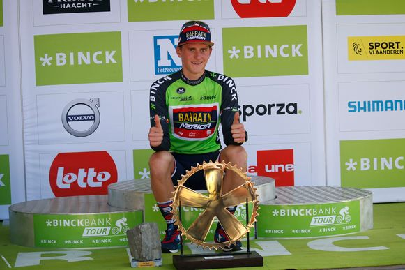 Matej Mohoric won vorig jaar de BinckBank Tour.