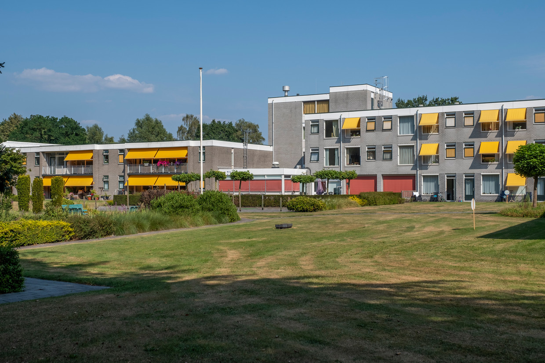 Woonzorgcentrum Rehoboth in Wapenveld. Een bewoner overleed afgelopen weekend, nadat zij voor de tweede keer positief testte op het coronavirus. Beeld Henri van der Beek