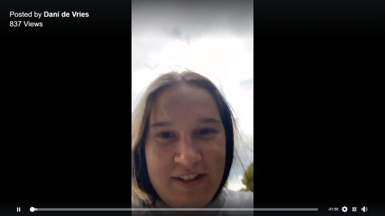 Dani deelt livestreams van haar avonturen in de facebookgroep 'Randonautica Adventures'. Beeld Dani de Vries