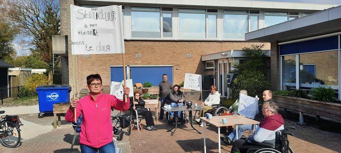Joke van Zuuk leidt het protest in Wezep