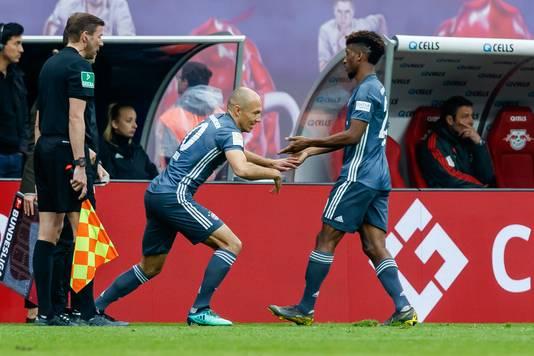Robben mocht in de slotfase invallen tegen RB Leipzig.
