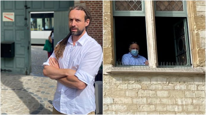 MECHELEN - Viruswaarheid-voorman Willem Engel en viroloog Marc Van Ranst in de rechtbank van Mechelen