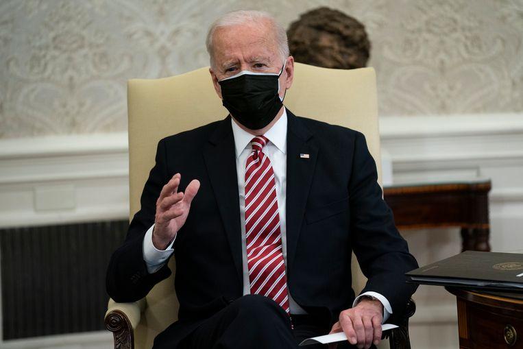 De Amerikaanse president Joe Biden.  Beeld AP