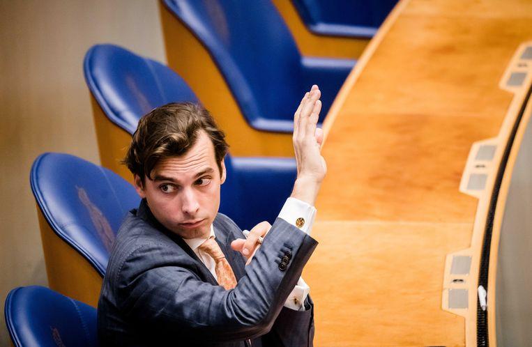 Oud-FVD-lijsttrekker Thierry Baudet eerder dit jaar in de Tweede Kamer. Beeld EPA