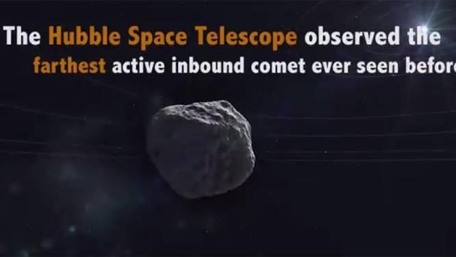 Verste komeet ooit ontdekt op 2,4 miljard kilometer van aarde