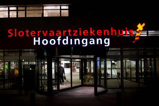 De hoofdingang van het Slotervaartziekenhuis.
