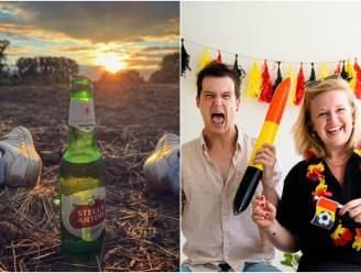 SHOWBITS. 'Dertigers'-acteurs supporteren erop los en van wie is dit fris biertje?