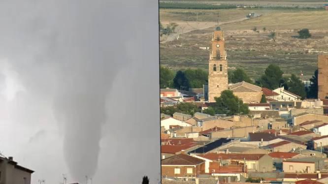 Tornado richt schade aan in Spanje