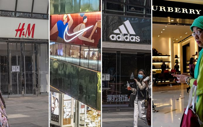 Op Chinese sociale media wordt opgeroepen om geen kledij meer te kopen van onder meer H&M, Nike, Adidas en Burberry.