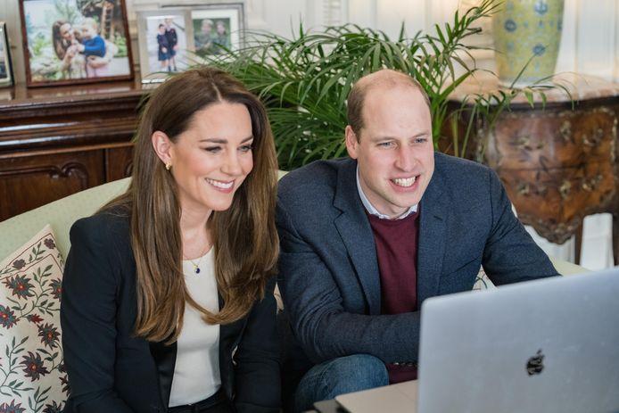 Catherine en prins William.