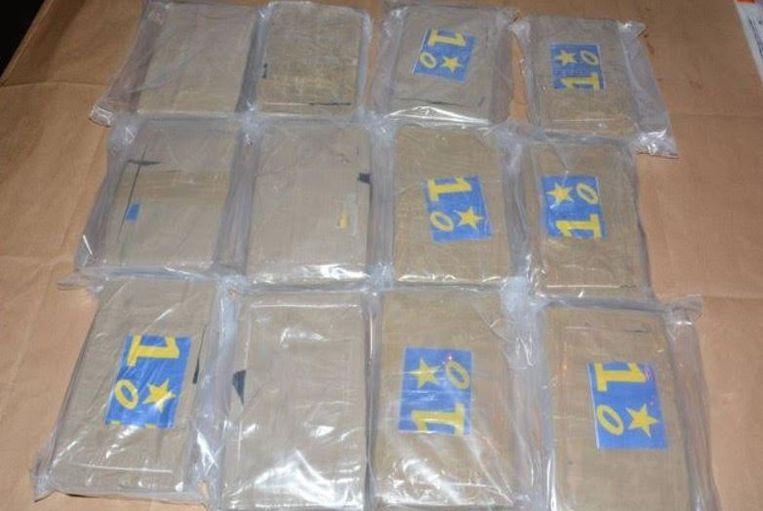 De National Crime Agency deelde op Twitter deze foto van de drugsvangst. Beeld Twitter: @nationalcrimeagency