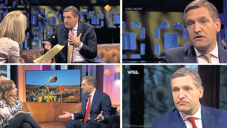 Recente tv-optredens van CDA-lijsttrekker Sybrand Buma in `Jinek', `WNL op zondag' en `Buitenhof'. Beeld TR
