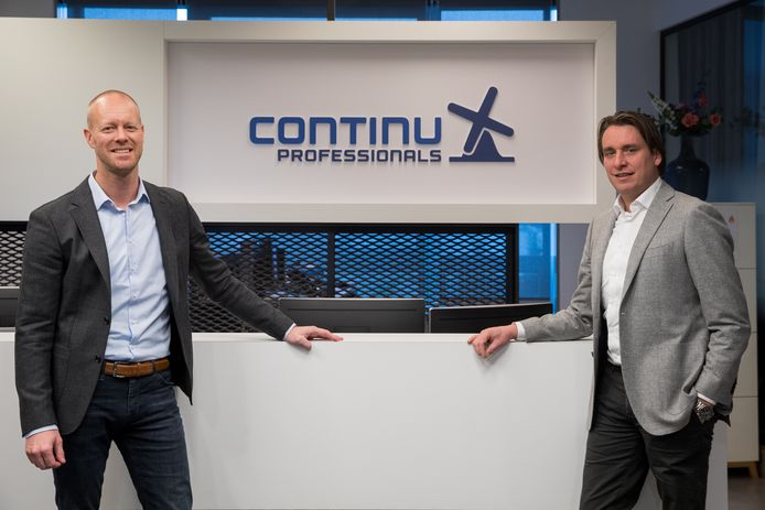 Directieleden Seth Winterscheidt (links) en Ramses Peppinck van Continu Proffesionals.