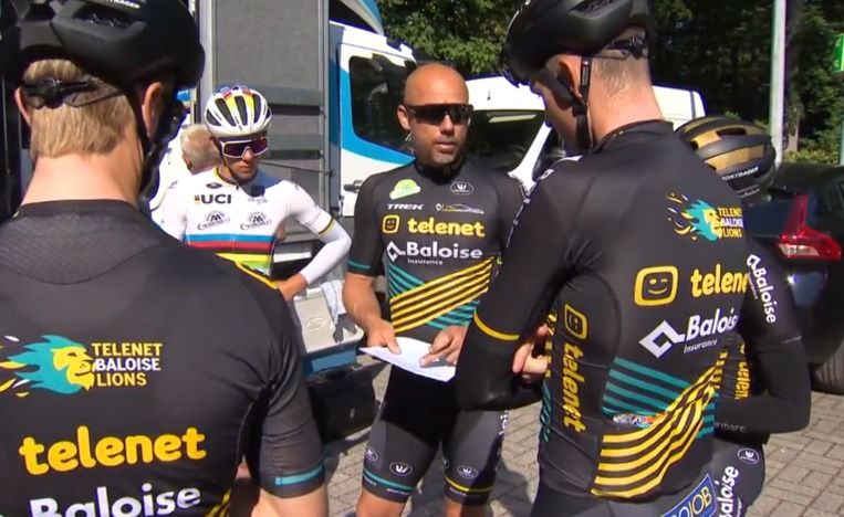 Sven Nys op stage in Spa.