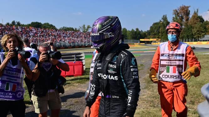 Hamilton na crash dankbaar voor halo: 'Zo word ik eraan herinnerd hoeveel geluk ik heb'