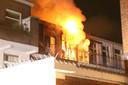De verwoestende brand in de portiekwoning aan de Allard Piersonlaan.