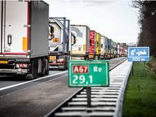A67 naar België weer vrij na ongeval met vrachtwagen