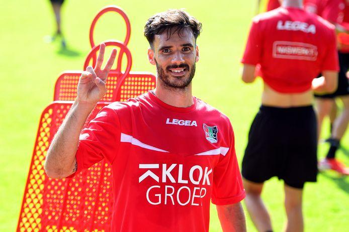 Iván Márquez na zijn eerste training bij NEC.